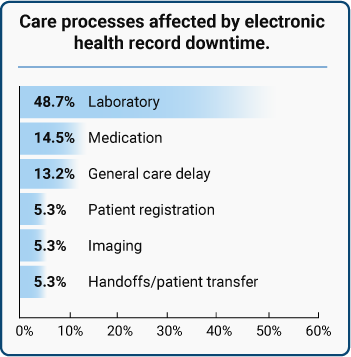 Care processes affected by electronic health record downtime.